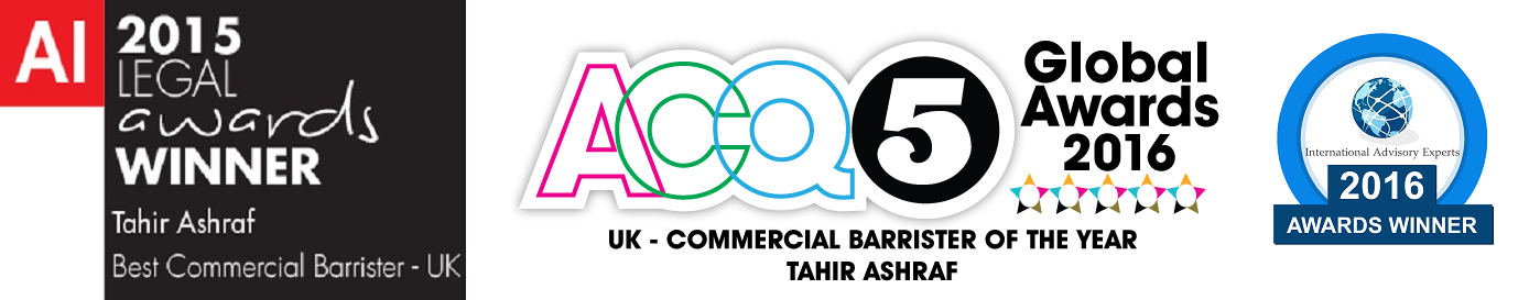 5 Chancery Lane Award Winning Barrister Tahir Ashraf Best Commercial Barristers 2015 Legal Awards