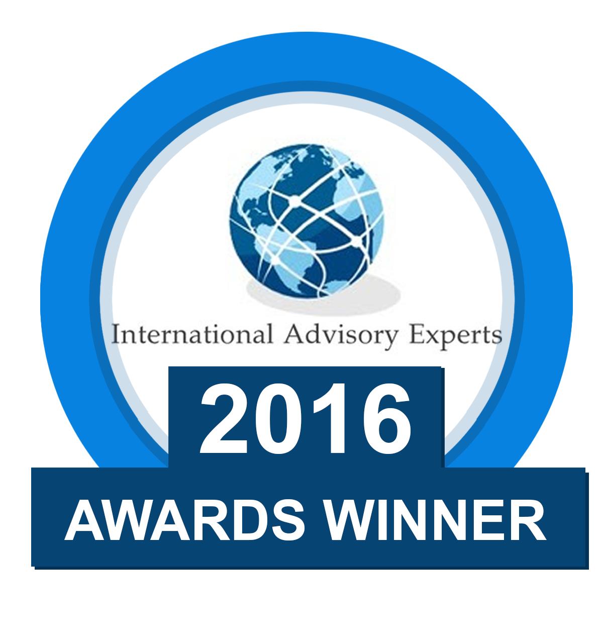 International Advisory Experts 2016 Awards Winner Tahir Ashraf